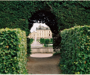 green, garden, and castle image