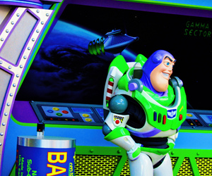 buzz lightyear, disney, and mickey mouse image