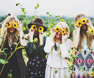 fashion, flowers, and friendship image