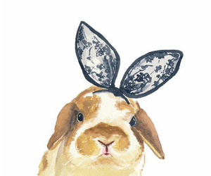 bunny, rabbit, and art image
