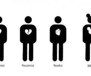 heart, optimist, and realist image