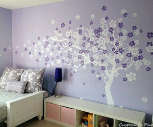 beauty, diy room decor, and purple image