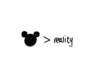 disney, reality, and mickey mouse image