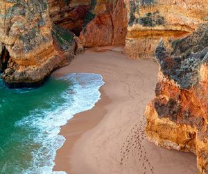 beach, sand, and exotic image