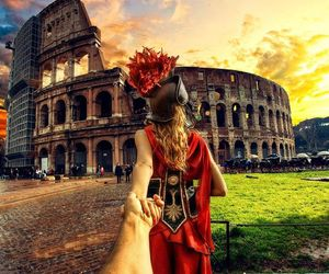 rome, travel, and couple image