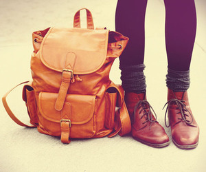 backpack, beautiful, and woman image