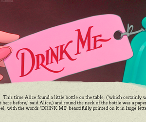 alice, alice in wonderland, and bottle image