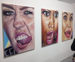 art, miley cyrus, and kim kardashian image