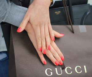 gucci, nails, and celine image