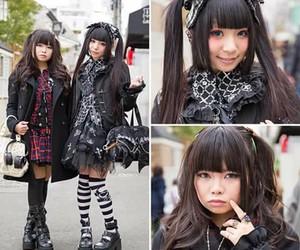 black, gothic, and Harajuku image