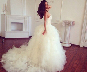 bride, dress, and white image