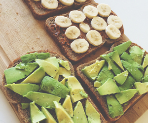 avocado, banana, and bread image