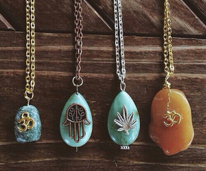 necklace, indie, and boho image