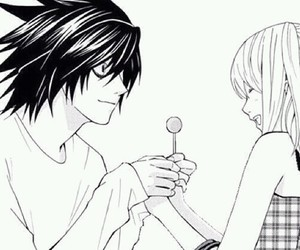 black and white, deathnote, and kawaii image
