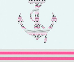 wallpaper, anchor, and pink image