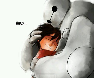 hiro, baymax, and big hero 6 image