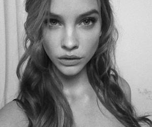 barbara palvin, model, and black and white image
