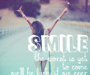 quote, smile, and song lyrics image