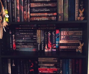 books, fangirl, and bookshelf image