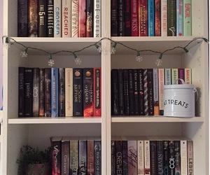 books, bookshelf, and fandom image