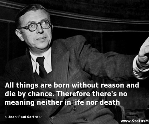 black and white, book, and jean-paul sartre image
