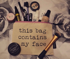 makeup, make up, and bag image