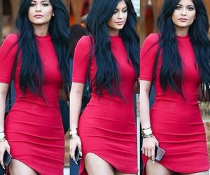 kylie jenner, dress, and red image