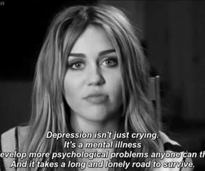 depression, miley cyrus, and sad image