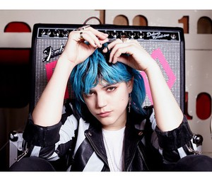 artist, blue, and blue hair image