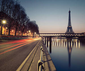 eiffel tower, evening, and paris image