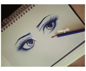 blue, occhi, and disegni image