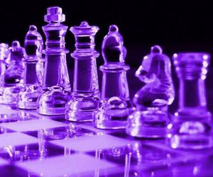 purple, aesthetic, and chess image