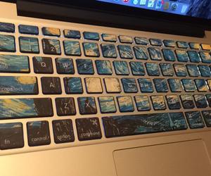 art, van gogh, and keyboard image
