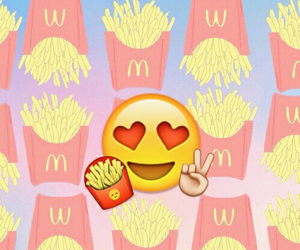 emoji, food, and fries image