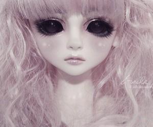 doll, black eyes, and kawaii image