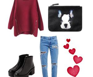 bag, black boots, and boots image