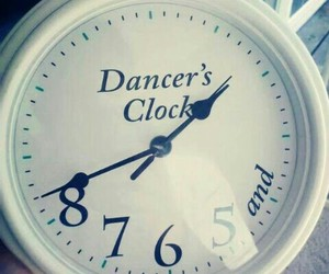 dance, clock, and dancer image