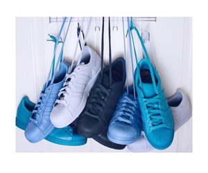 adidas, blue, and adidas superstar image