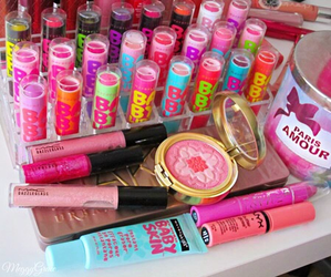 makeup, baby lips, and pink image