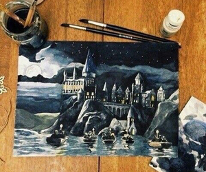hogwarts, art, and harry potter image