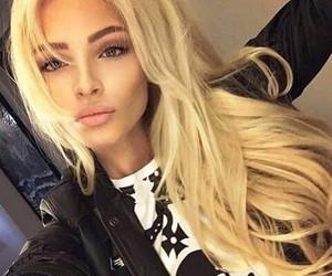 blonde, beautiful, and eyes image