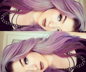 colors, grunge, and hair style image