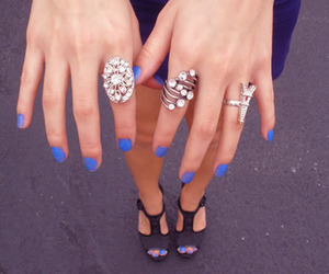 blue, blue nails, and nails image