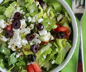 delicious, healthy, and greek salad image