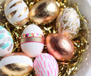 easter, eggs, and gold image
