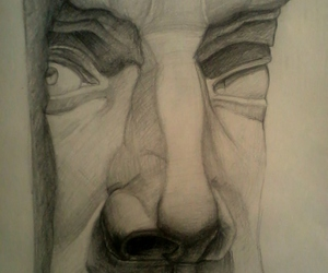 art, drawing, and charcoal image