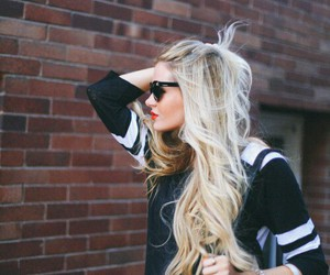 beautiful, blonde hair, and pretty image