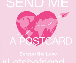 postcard, friends, and send image