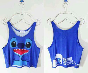 stitch, blue, and clothes image