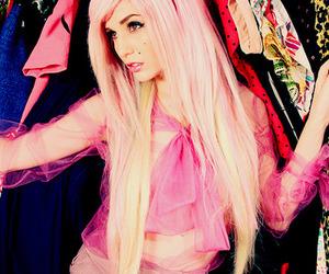 pink, audrey kitching, and pink hair image